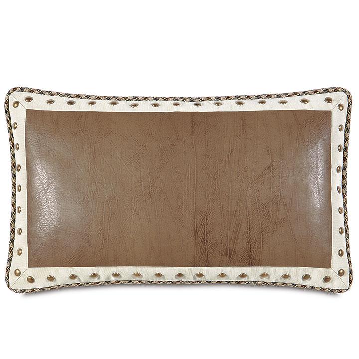 Aiden Faux Leather Decorative Pillow