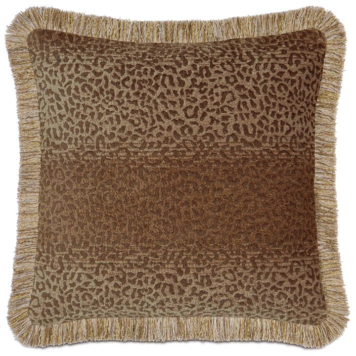 Congo Gold & Brown Pillow A