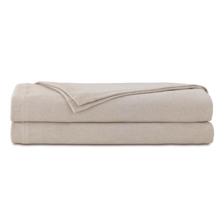 Brera Flannel Blanket In Bisque