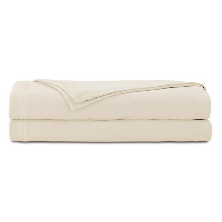 Brera Flannel Blanket In Ivory