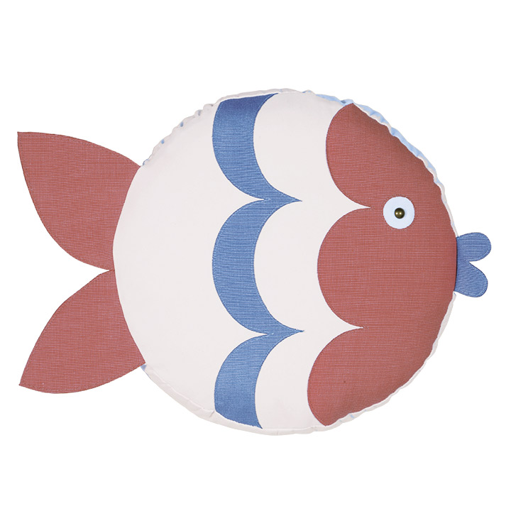 Pez Fish Decorative Pillow (Left)