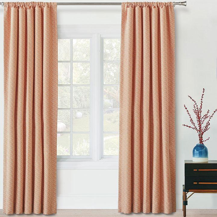 Ingalls Orange Curtain Panel