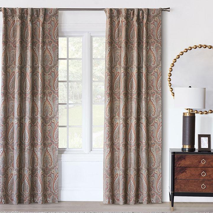 Rudy Rod Pocket Curtain Panel In Earth Tone