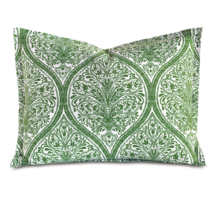 Adelle Percale King Sham In Grass