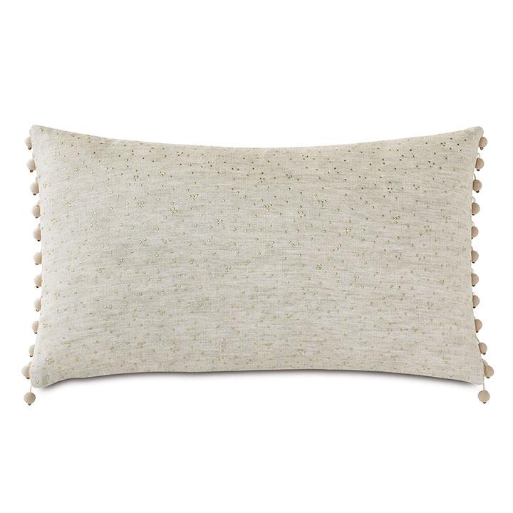 Marceau Gold Dotted Decorative Pillow