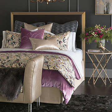 Valentina - bedding,glam bedding,gold,glam,glamorous,glam bedding,gold bedding,purple,purple glam bedding,glam purple bedding,