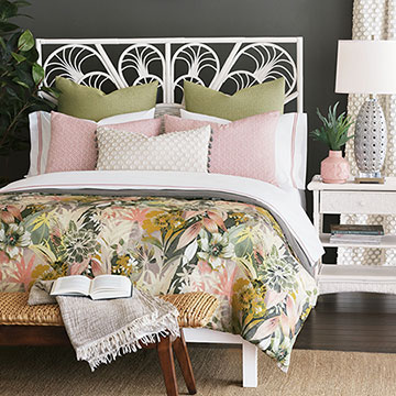 Felicity - ,tropical bedding,floral bedding,boho bedding,boho duvet,cleerie kemble,blush bedding,citron bedding,designer bedding,boho bedroom,floral duvet,boho curtains,