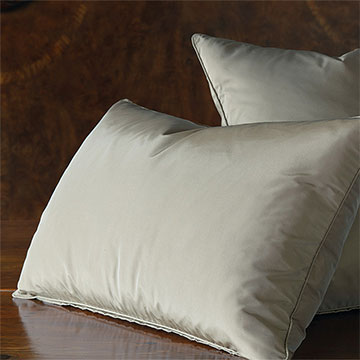 Freda Solid Taffeta - Cornflower - grey,neutral,taupe,taffeta,shiny,silky,bed skirt,ruffled,euro sham,standard sham,king sham,accent pillow,decorative pillow,pillow,bedding,bed pillow,square,made in usa,