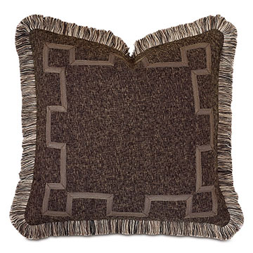 Broward Border Decorative Pillow in Cocoa