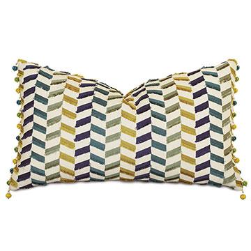 Claire Ball Trim Decorative Pillow