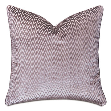 Evie Velvet Chevron Decorative Pillow