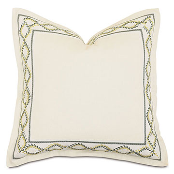 Marguerite Decorative Border Euro Sham