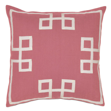 Resort Bloom Fret Accent Pillow