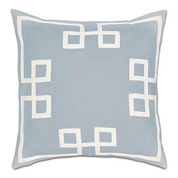 Resort Sky Fret Accent Pillow