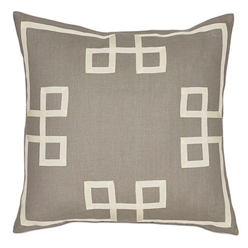 Resort Stone Fret Accent Pillow