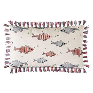 Minnow Brush Fringe Decorative Pillow