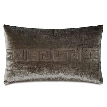 Antiquity Greek Key Decorative Pillow in Oregano