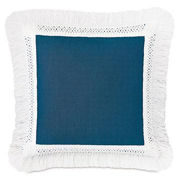 Palermo Fringe Decorative Pillow in Lagoon