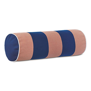 Plage Striped Bolster in Melon