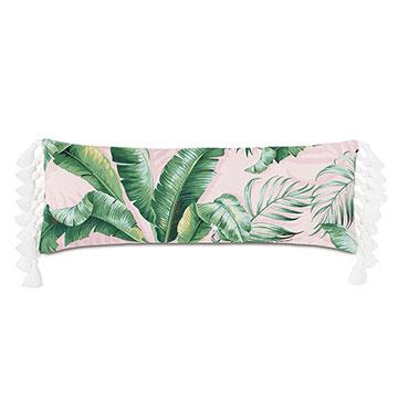 Abaca Tassel Decorative Pillow in Flamingo