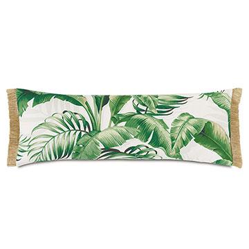 Abaca Fringe Decorative Pillow in Cloud