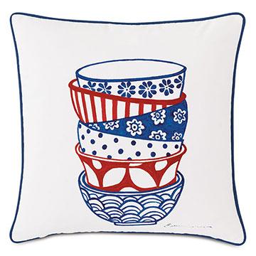 Porcelain Bowl Decorative Pillow