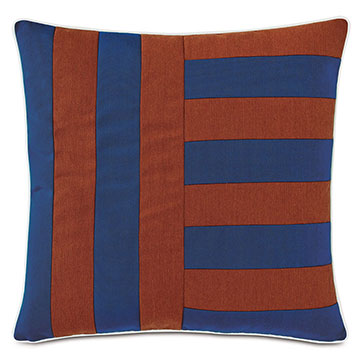 Plage Striped Decorative Pillow in Admiral