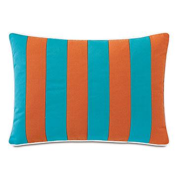 Plage Striped Decorative Pillow in Orange