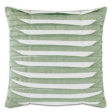 Plisse Pleated Decorative PIllow in Celadon