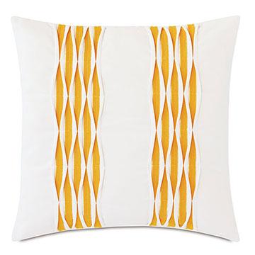 Tamaya Pintuck Decorative Pillow in Yellow