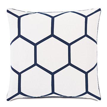 Tamaya Hexagon Decorative Pillow in Indigo