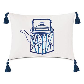 Porcelain Kettle Decorative Pillow