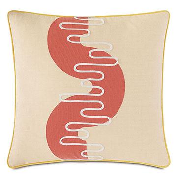 Belleair Applique Decorative Pillow