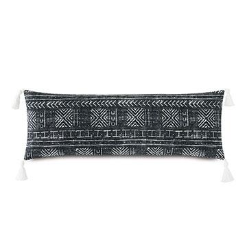 Seydou Tassel Decorative Pillow in Black
