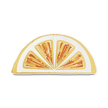 Palencia Handpainted Citrus Decorative Pillow in Yellow