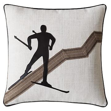 Downhill Skiing Decorative Pillow