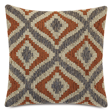 Monterosa Woven Decorative Pillow in Rust