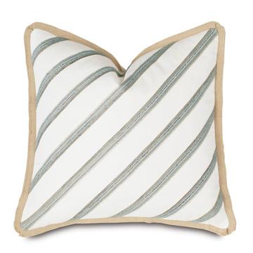 Brentwood Diagonal Trim Decorative Pillow