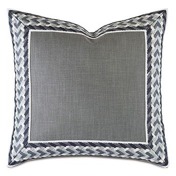 Montecito Embroidered Border Decorative Pillow