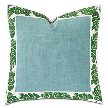 St Barths Mitered Border Decorative Pillow