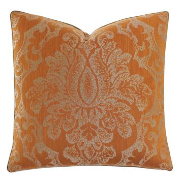Ladue Damask Accent Pillow In Orange
