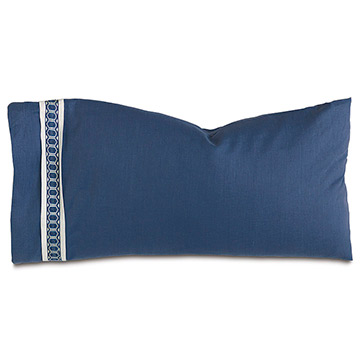Indigo King Sham (Left)