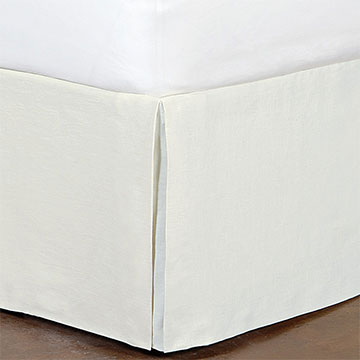 Breeze Linen Bed Skirt In Shell