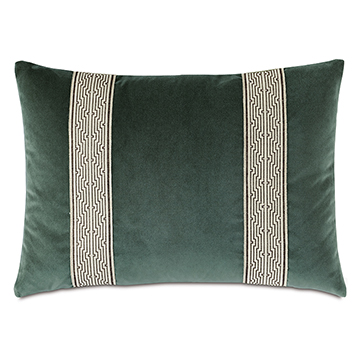 Echo Trim Applique Decorative Pillow