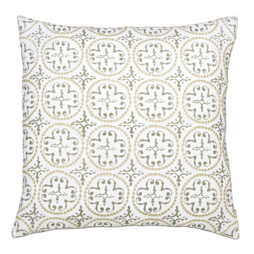 Lightcap Medallion Decorative Pillow In Oatmeal