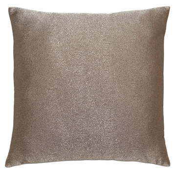 Dunaway Metallic Decorative Pillow In Umber