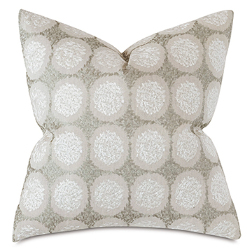 Dodie Embroidered Decorative Pillow In Pebble