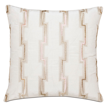 Fortune Ombre Embroidery Decorative Pillow