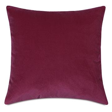 Plush Velvet Decorative Pillow In Raspberry