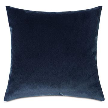 Plush Velvet Decorative Pillow In Denim